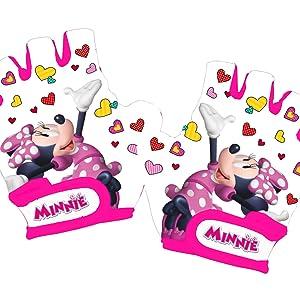Guanti da Ciclo Bambina Bianco XS Disney Minnie Mouse