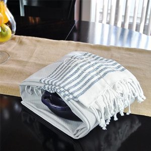 E-Living Store FBA43921 100/% Cotton Pool Use As Blanket or Throw Coral Soft /& Absorbent Decorative Turkish Fouta Towel with Twisted Fringe for Home Beach or D/écor