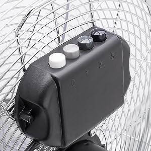 Tristar VE-5935 Plata Ventilador de suelo con circulador de aire 45 cm Met/álico