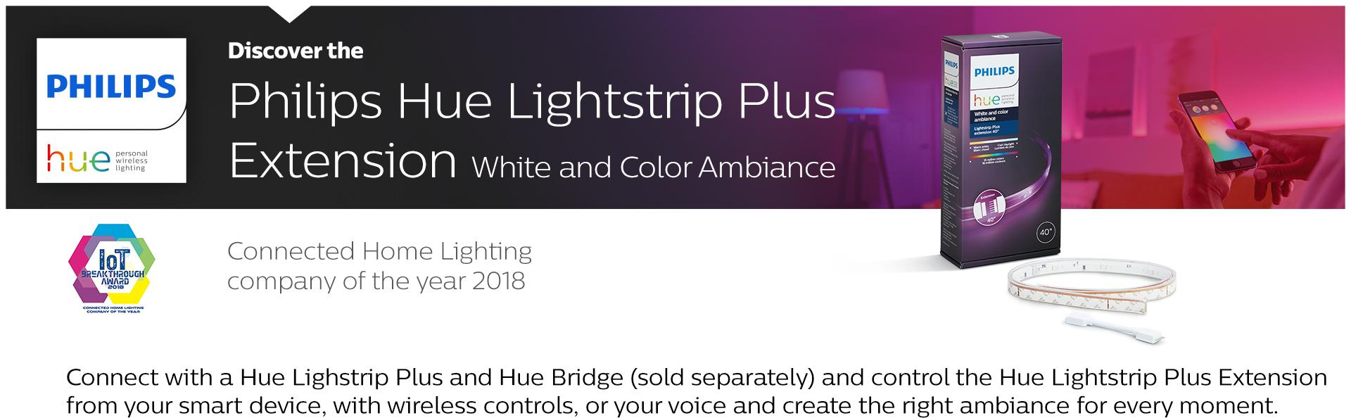 philips hue lightstrip plus dimmable led smart light extension works with alexa apple homekit. Black Bedroom Furniture Sets. Home Design Ideas