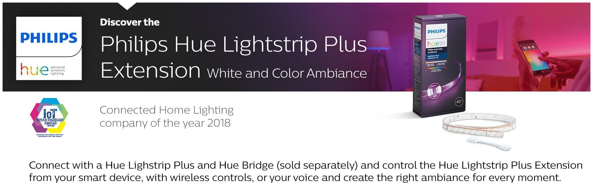 Amazon Com Philips Hue Lightstrip Plus Dimmable Led Smart