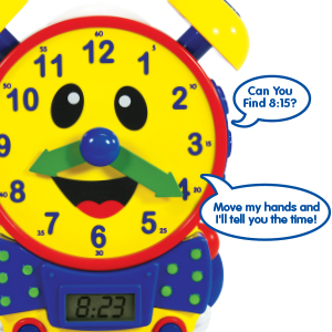 interactive learning, find the time, electronic clock, toy, cool toy, toy clock