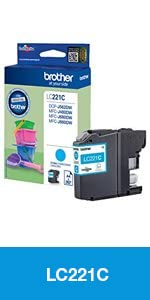 Brother LC221CBP Cartucho de tinta cian original para las ...