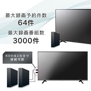 HDD録画対応