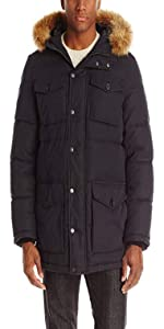 Tommy Hilfiger Men's Micro Twill Full-Length Hooded Parka