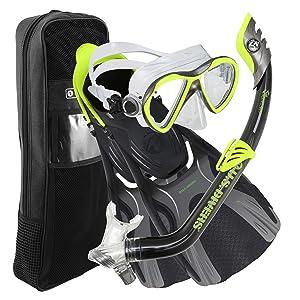 a70c2f86cc3 Amazon.com   U.S. Divers Youth Flare Jr Silicone Snorkeling Set ...
