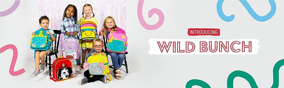 wildkin wild bunch toddler boy girl backpack kids school daycare preschool lunch box