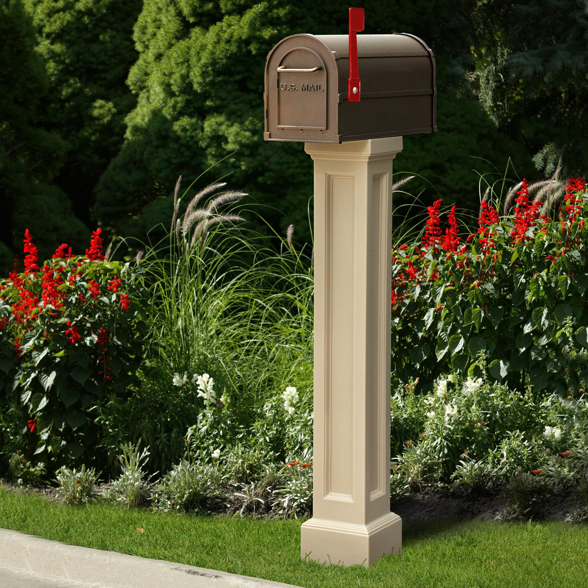 pedestal green multiuse mailbox il fullxfull salvage farmhouse stair modern architecture wooden mint post p vintage