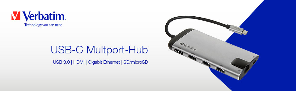 Verbatim Usb C Multiport Adapter With Usb 3 0 Hdmi Elektronik