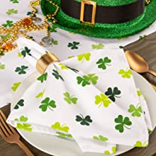 shamrock placemat st patricks day tablecloth st pattys day decorations for the home irish place mats