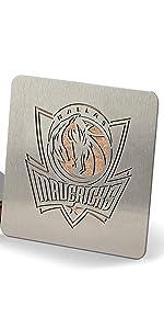 YouTheFan NBA Dallas Mavericks Stainless Steel Boasters Coasters Set