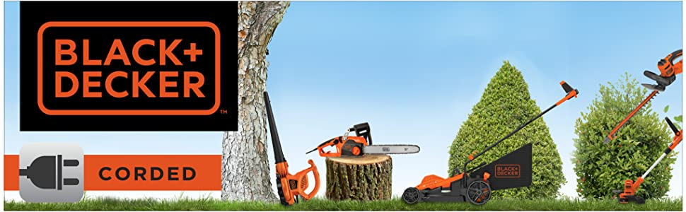 black and decker corded electric outdoor power tools