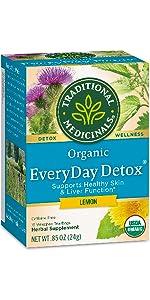 Traditional Medicinals Organic Everyday Detox Lemon Detox Tea