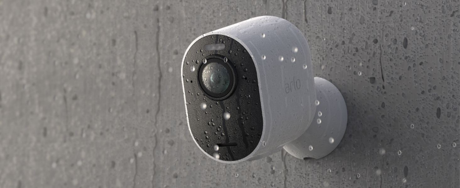 Arlo, Ultra, uhd, 4k, hdr, weather resistant, dual microphones, wire-free, integrated spotlight