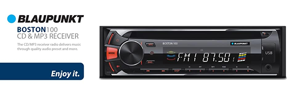 blaupunkt car stereo high quality cd mp3 receiver boston100 sd card usb  port aux in dvd