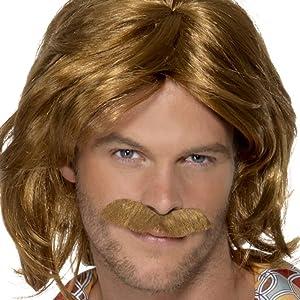 Peluca y bigote de Super Trouper de los 70