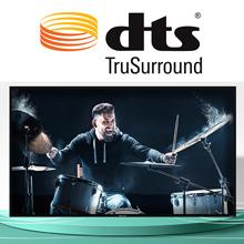 dts trusurround sound, hisense tv