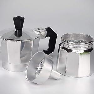 Sanfor Asa para Cafetera Italiana 3 Tazas Aluminio | Mango ...