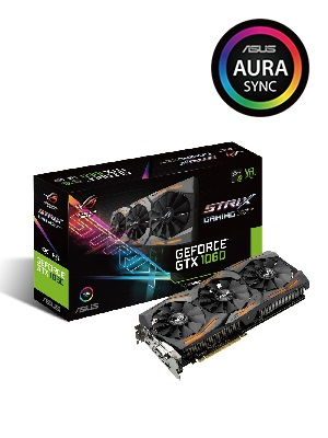 ASUS STRIX-GTX1060-O6G-GAMING - Tarjeta gráfica (Strix, NVIDIA GeForce GTX 1060, 6 GB, GDDR5, DVI, HDMI, DP) Color Negro