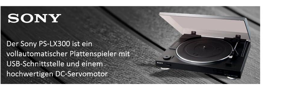 sony ps lx 300 usb vollautomatischer plattenspieler mit usb schnittstelle und dc servomotor. Black Bedroom Furniture Sets. Home Design Ideas