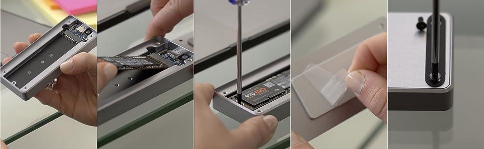 Sabrent NVMe SSD enclosure