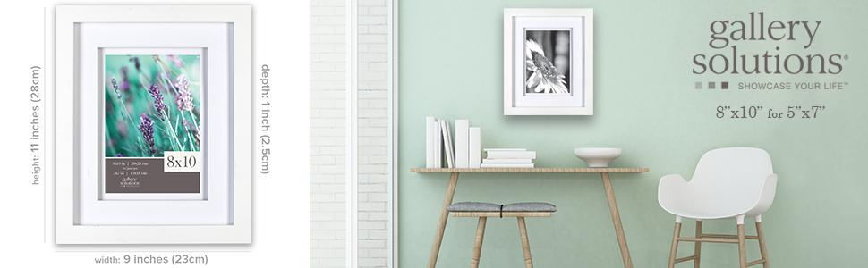 Amazon Com Gallery Solutions 11x14 White Wood Wall Frame