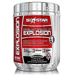 six star preworkout explosion pre workout powder