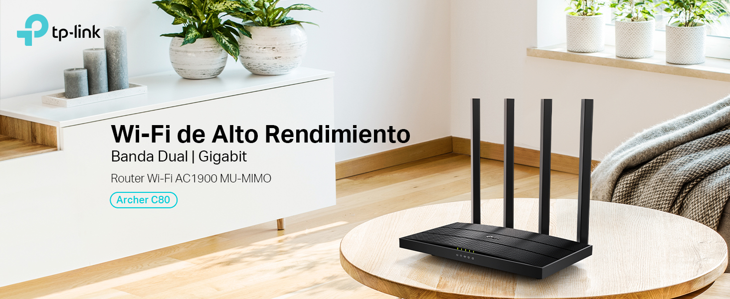 TP-Link AC1900 - Router inalámbrico Doble Banda (2,4 GHz / 5 GHz), WiFi