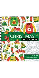 christmas xmas coloring book for adults grown up senior teens