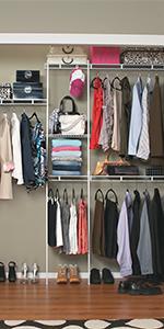 Amazon Com Closetmaid 1608 Closet Organizer Kit With Shoe