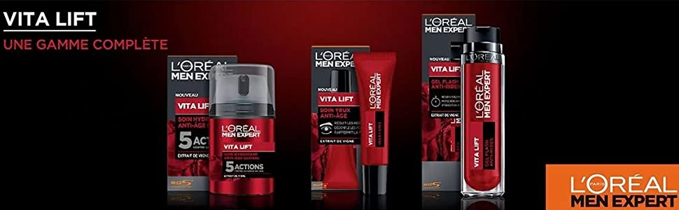 Soin Hydratant Anti-Âge Global Vita Lift de L'Oréal Men Expert