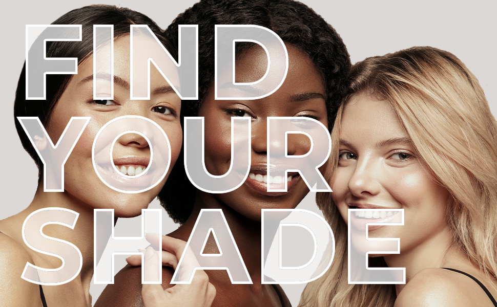 find your shade, amazing concealer, shade match, foundation, skintone