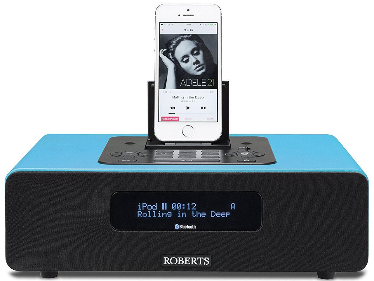 roberts radio blutune65 dab fm bluetooth lightning dock 2 1 soundsystem mit fernbedienung. Black Bedroom Furniture Sets. Home Design Ideas