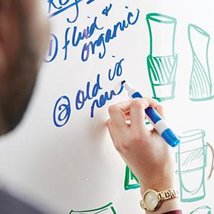 Post-it Dry Erase Surface Writes Smoothly