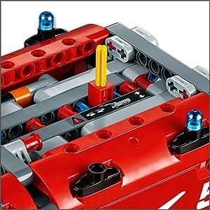LEGO, building, technic, Fire Truck, vehicle, robotics, interactive, 2in1, challenging, mechanical