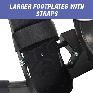 footplates with straps