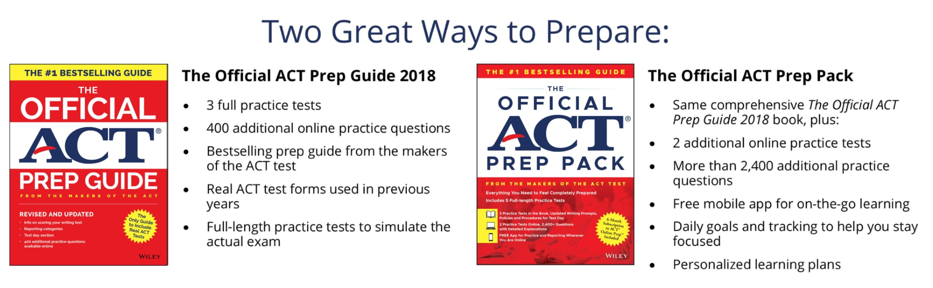 ACT Official Prep Guide 2018