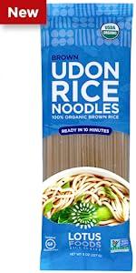Lotus Foods Organic Brown Udon Rice Noodles