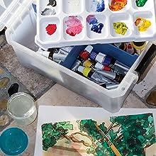 Lifestyle, Paint, Art, Storage, ArtBin, Organized, Portable, Crafts, Crafting, Supplies