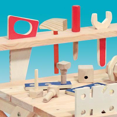 Melissa & Doug Wooden Project Workbench Play Building Set