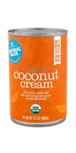 organic natural value coconut cream