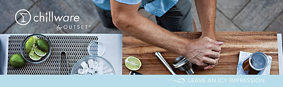 Outset chillware; outset bar essentials; bar essentials; ice trays; hex trays; ice cube trays