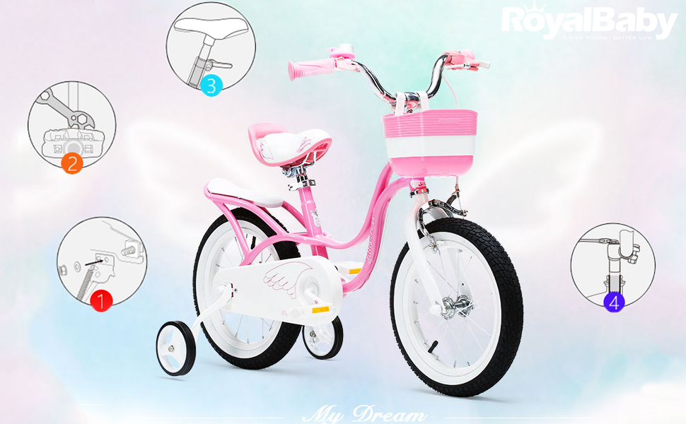 RoyalBaby Little Swan Girl's Bike Features: