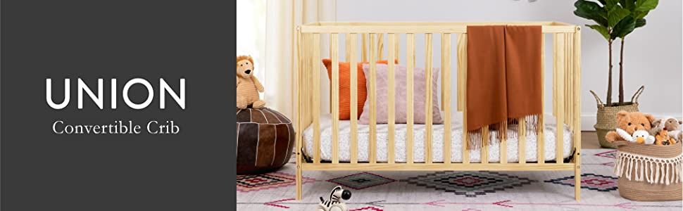 Union 3-in-1 2-in-1 Convertible Crib