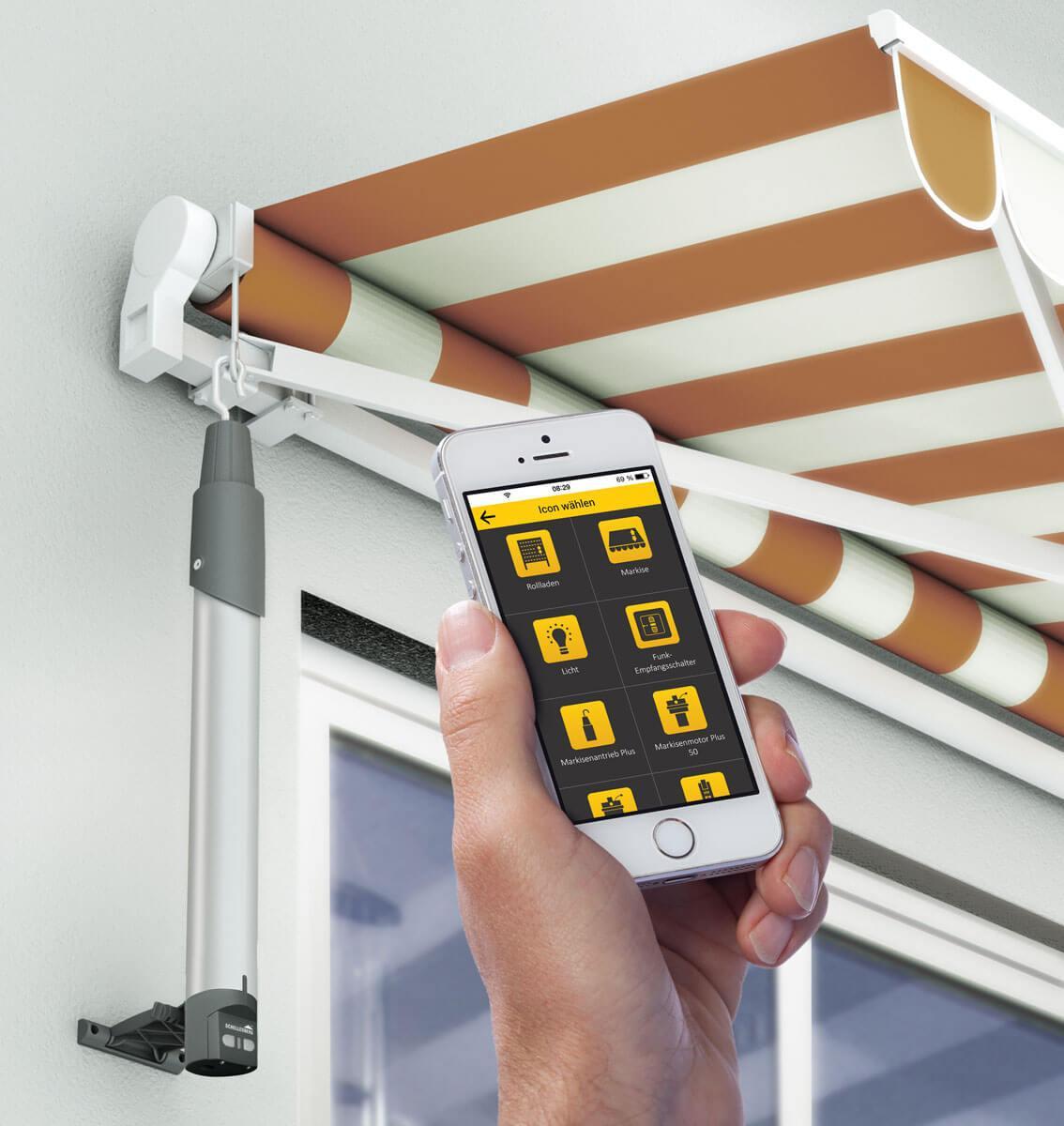 Schellenberg Smart Home Funk Markisenantrieb Premium