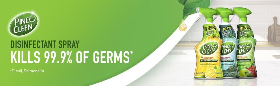 disinfectant, pine o cleen, pine o clean, spray, germ kill, 99.9%, bacteria kill, hygiene, clean