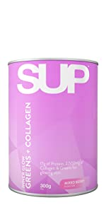 sup supplements MIX inner glow greens and collagen powder