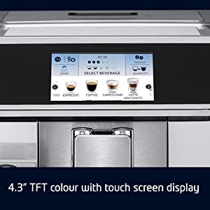 TFT colour with touch screen display