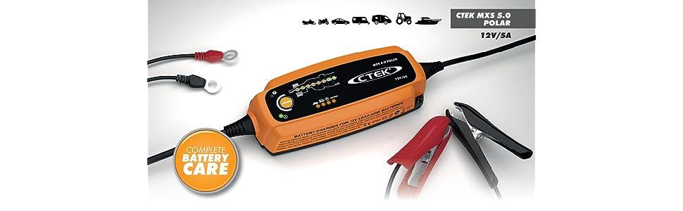 ctek mxs 5 0 polar batterieladeger t 12v 5 0 amp auto. Black Bedroom Furniture Sets. Home Design Ideas