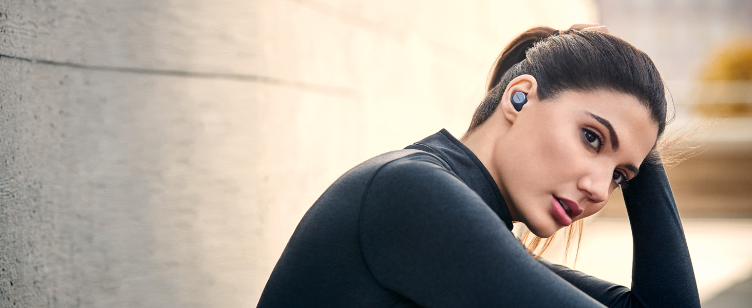 Wireless earbuds - waterproof and tested for secure fit